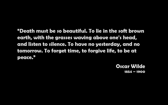 death oscar wilde quote