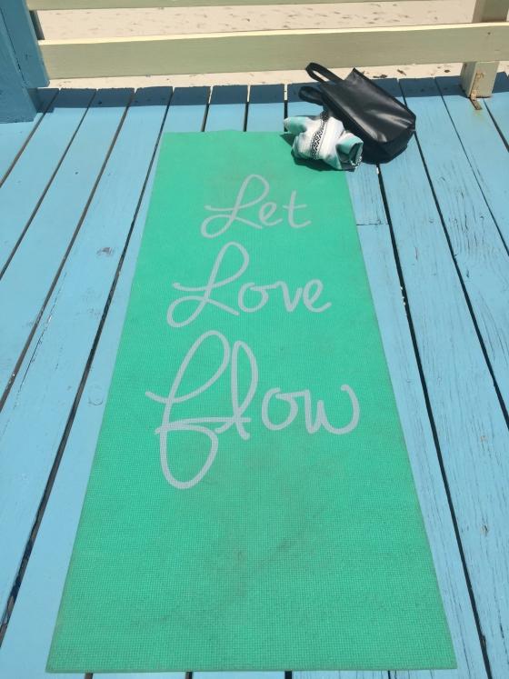 let love flow yoga mat bahamas